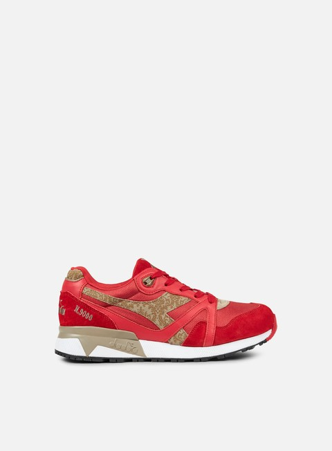 sneakers diadora n9000 made in italy roccoco red
