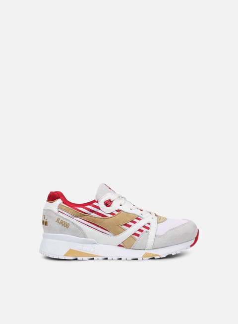 sneakers diadora n9000 made in italy white red