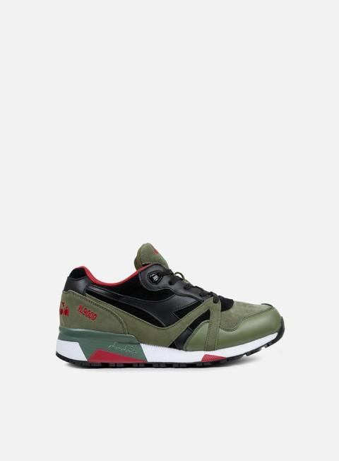 sneakers diadora n9000 premium deep lichen green black garnet