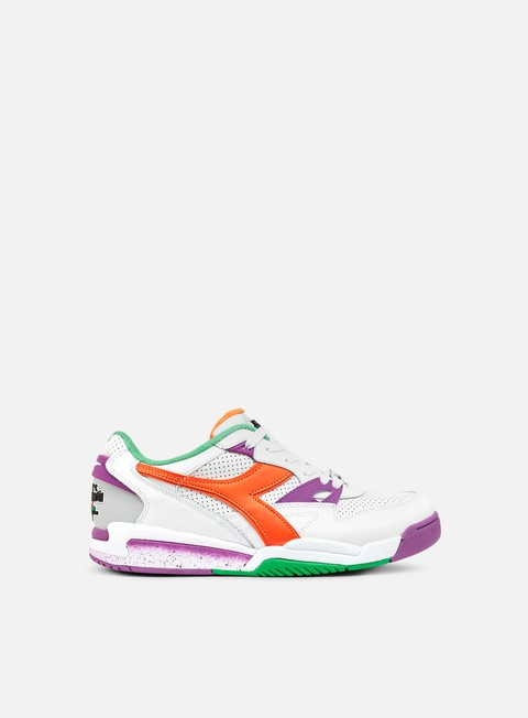 sneakers diadora rebound ace white vermillion orange