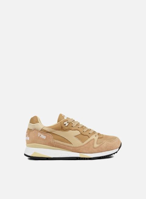 sneakers diadora v7000 italia beige candeggiato croissant