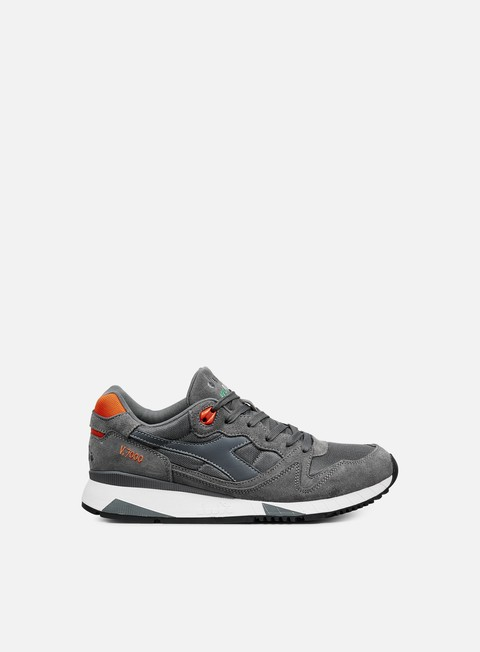 sneakers diadora v7000 nyl ii steel grey vermillion orange
