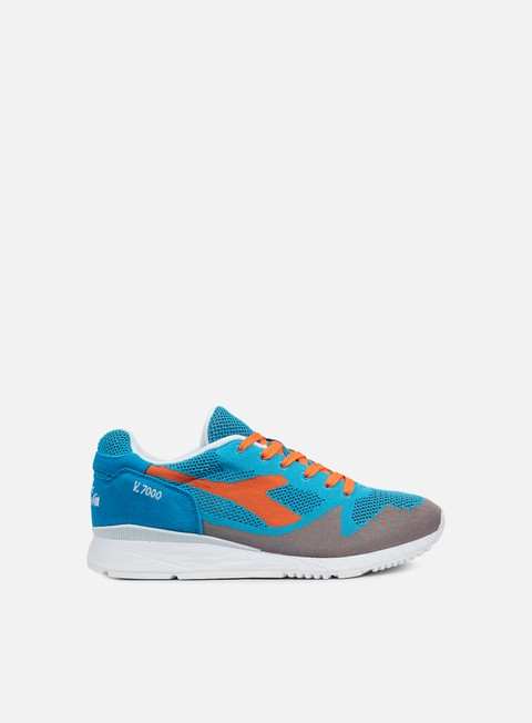 sneakers diadora v7000 weave cyan blue vermillion orange