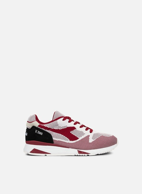 sneakers diadora v7000 weave white tibetan red black