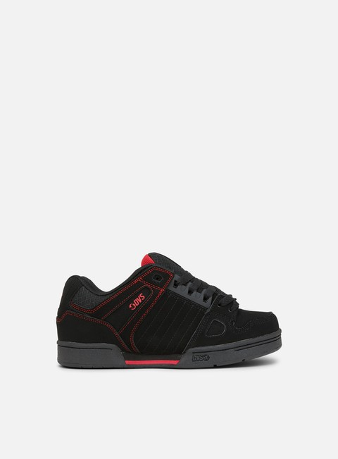 sneakers dvs celsius black black red