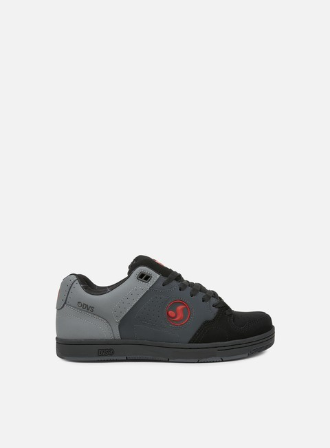 sneakers dvs discord grey black red