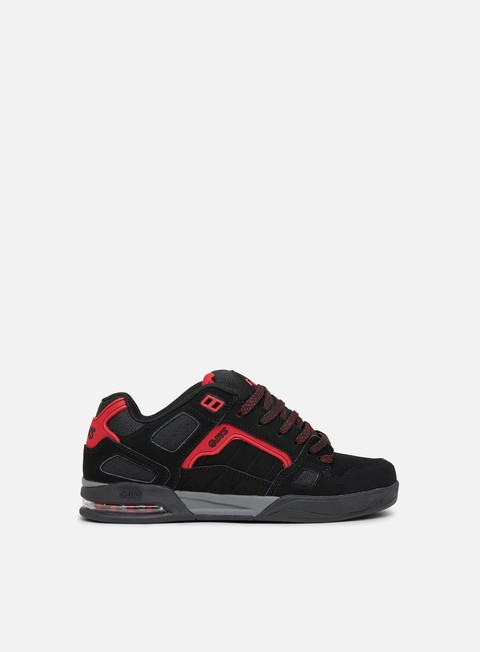 sneakers dvs drone black red