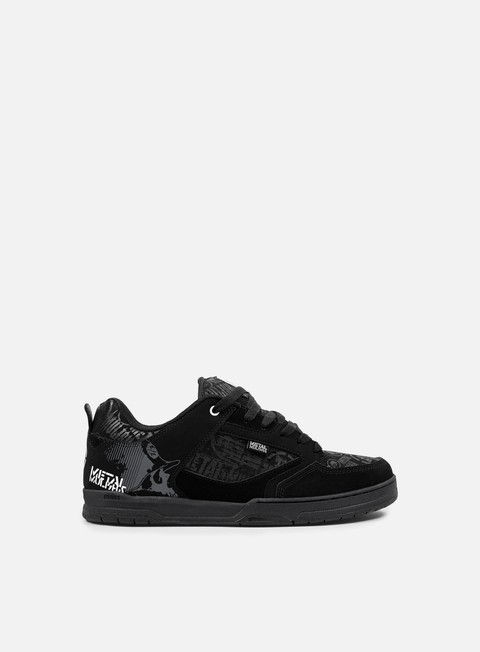 sneakers etnies metal mulisha cartel black black white