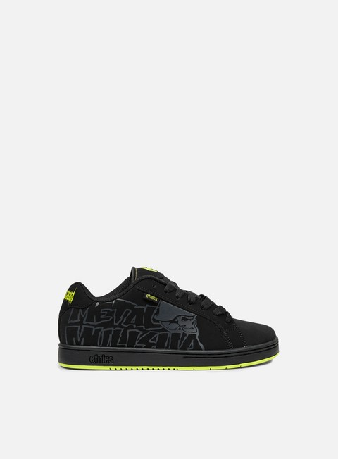sneakers etnies metal mulisha fader black black
