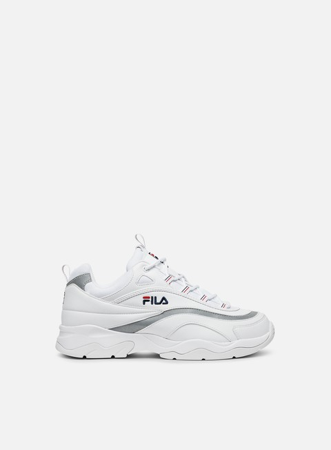 sneakers fila fila ray white silver