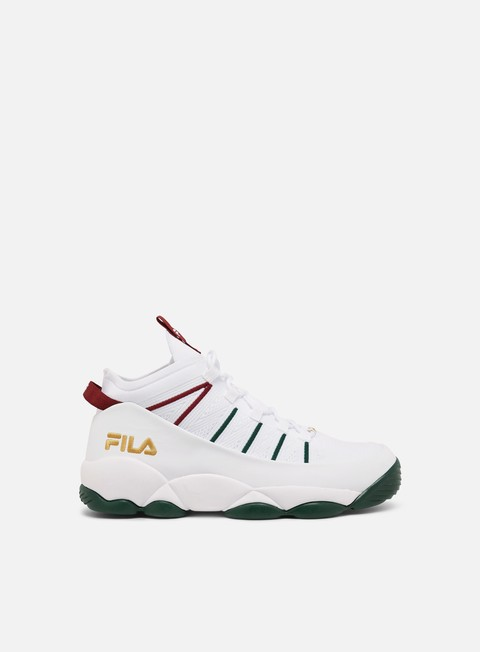 sneakers fila spaghetti knit white sycamore biking red