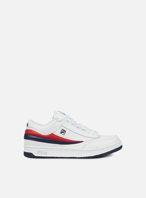 sneakers fila t1 mid white fila navy fila red