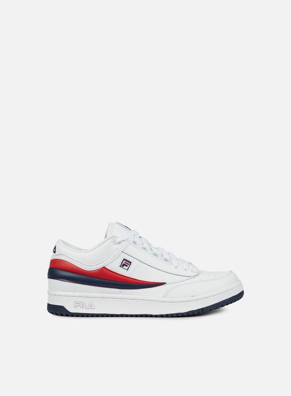 Fila - T1 Mid, White/Fila Navy/Fila Red - Sneakers