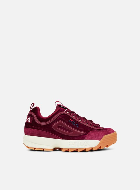 sneakers fila wmns disruptor v low red velvet