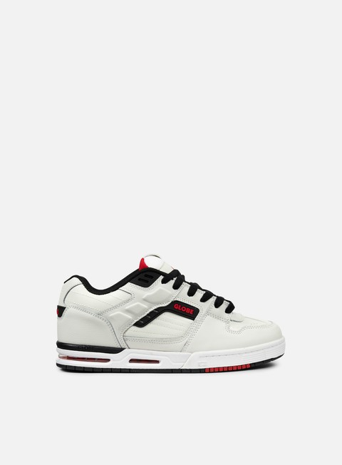 sneakers globe fury white black red