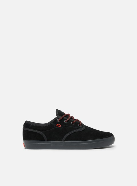 sneakers globe motley black suede red