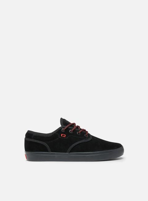 sneakers globe motley black suede red