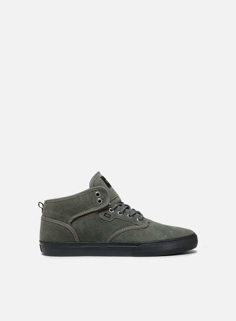 sneakers globe motley mid dusty olive black winter