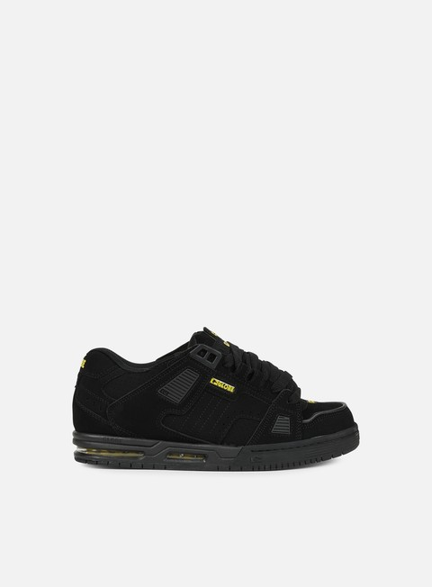 sneakers globe sabre black black yellow