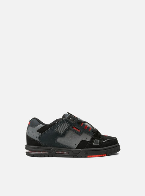 sneakers globe sabre black red charcoal