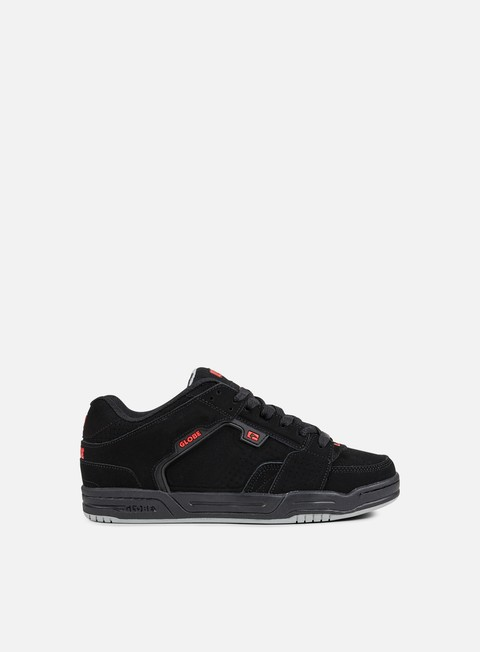 sneakers globe scribe black black red