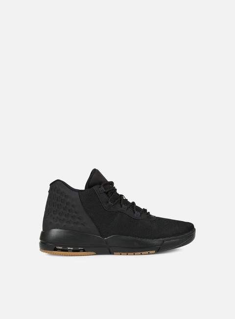 sneakers jordan academy black anthracite gum medium brown