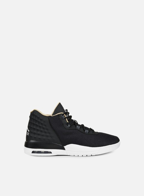 sneakers jordan academy black white vachetta tan