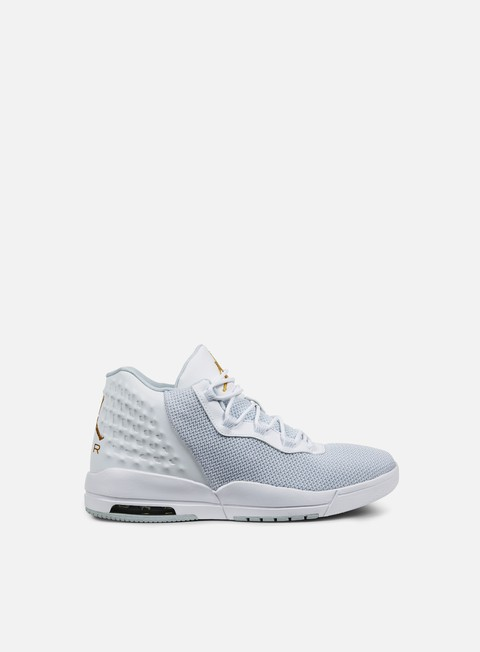 sneakers jordan academy white metallic gold coin pure platinum