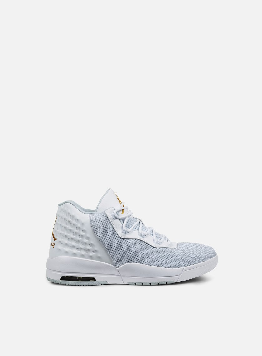 Jordan - Academy, White/Metallic Gold Coin/Pure Platinum