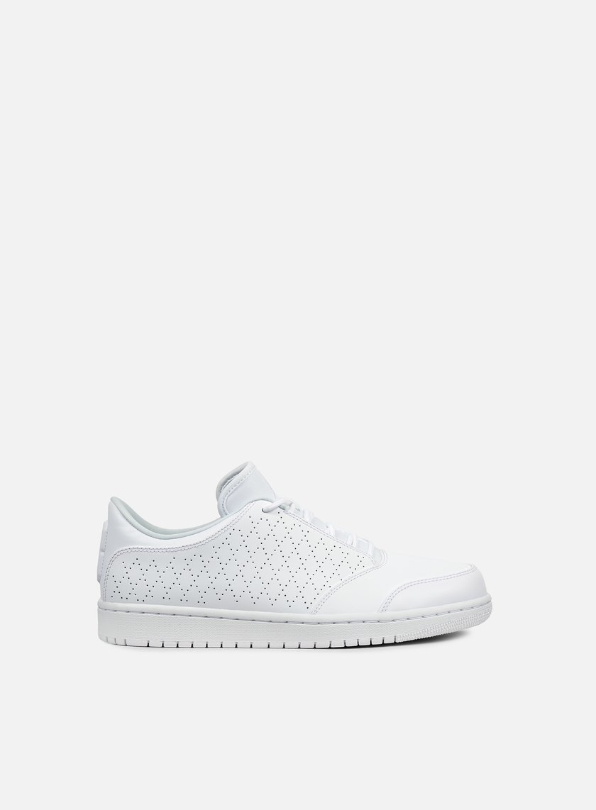 ... Jordan - Air Jordan 1 Flight 5 Low, White/White/Pure Platinum 1 ...