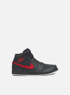 Jordan - Air Jordan 1 Mid, Anthracite/Gym Red/White