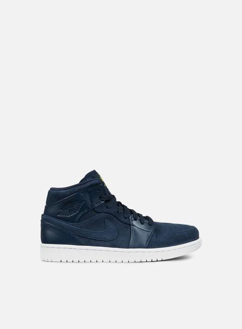 sneakers jordan air jordan 1 mid armory navy electroliime
