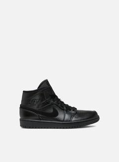Jordan - Air Jordan 1 Mid, Black/Black/Black