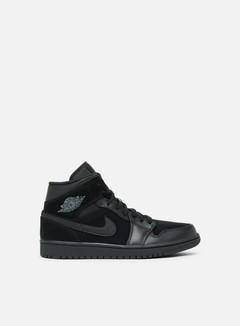 Jordan - Air Jordan 1 Mid, Black/Dark Grey/Black