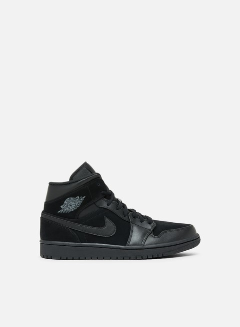 sneakers jordan air jordan 1 mid black dark grey black