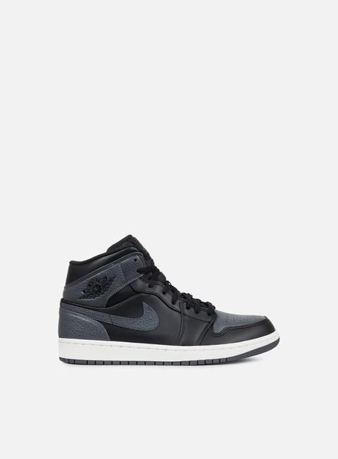 sneakers jordan air jordan 1 mid black dark grey summit white