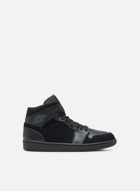 sneakers jordan air jordan 1 mid black dark smoke grey black