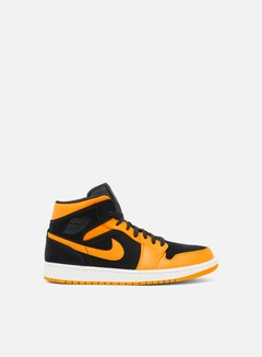 Jordan - Air Jordan 1 Mid, Black/Orange Peel/Sail
