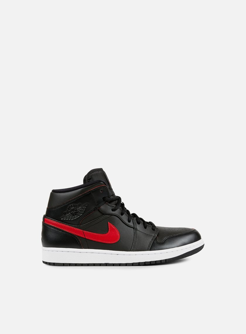 Jordan - Air Jordan 1 Mid, Black/Team Red/White