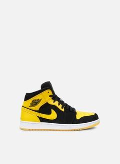 Jordan - Air Jordan 1 Mid, Black/Varsity Maize