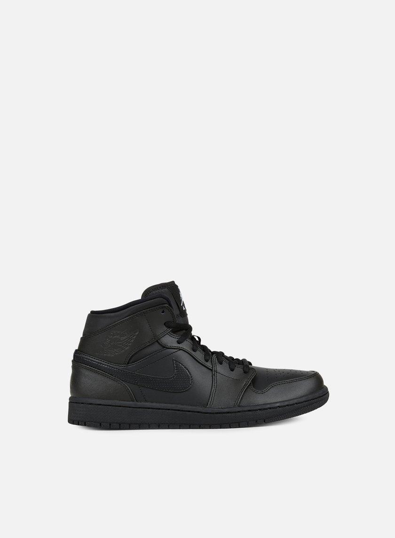 Jordan - Air Jordan 1 Mid, Black/White