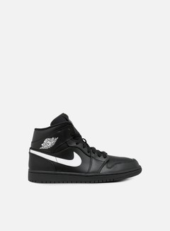 Jordan - Air Jordan 1 Mid, Black/White/Black