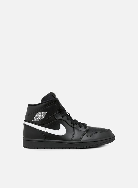 sneakers jordan air jordan 1 mid black white black