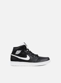 Jordan - Air Jordan 1 Mid, Black/White/White