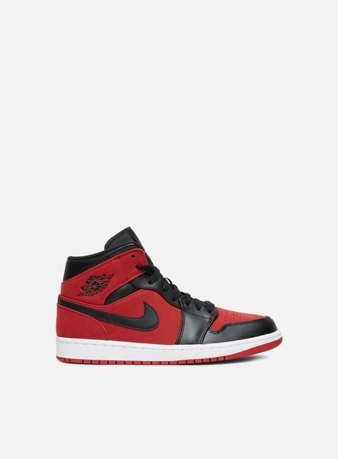 sneakers jordan air jordan 1 mid gym red black white