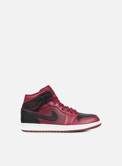 sneakers jordan air jordan 1 mid team red black summit white