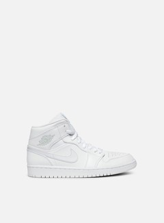 Jordan - Air Jordan 1 Mid, White/Pure Platinum/White