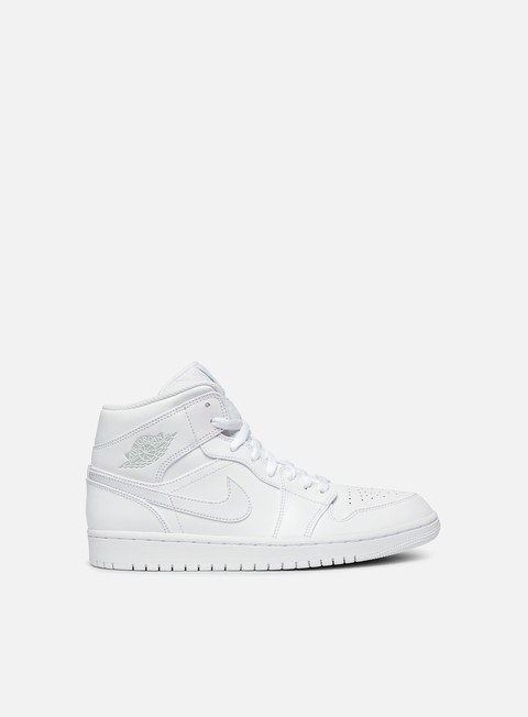sneakers jordan air jordan 1 mid white pure platinum white