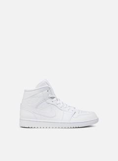 Jordan - Air Jordan 1 Mid, White/White/White