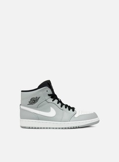 Jordan - Air Jordan 1 Mid, Wolf Grey/White/Black